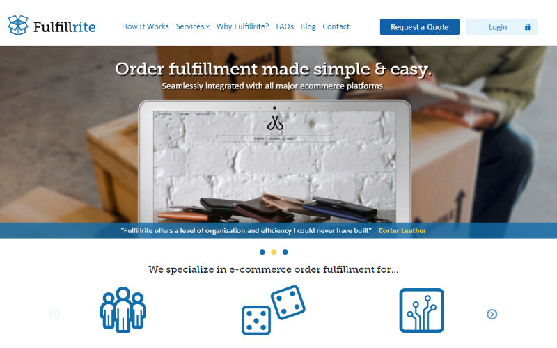 Fulfillrite Ecommerce Order Fulfillment service