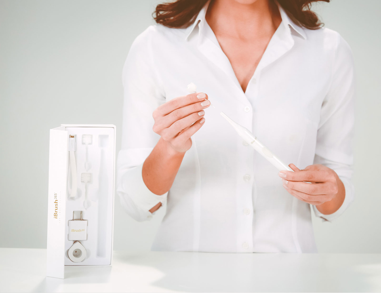 iBrush 365 World's First Round Disc Bristle Electric Toothbrush