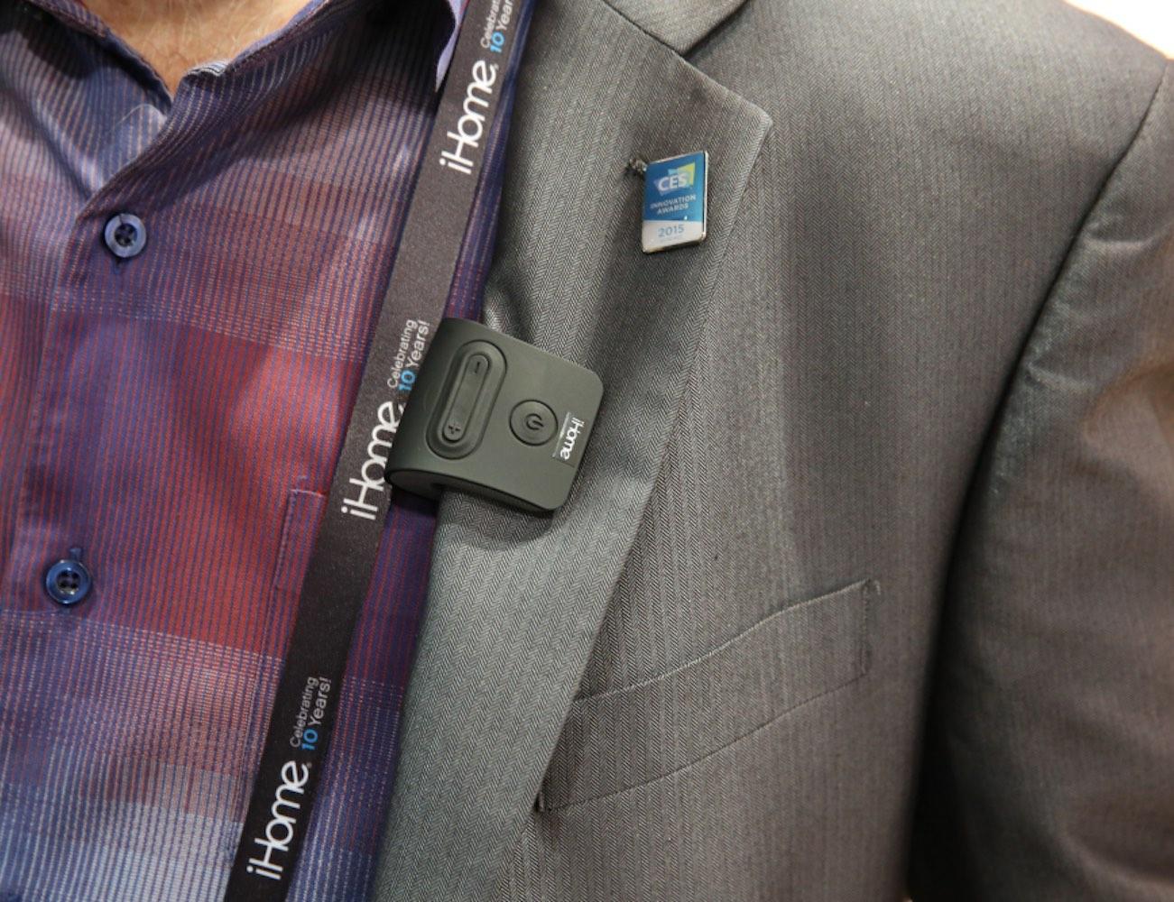 iHome Wearable Bluetooth Mini Speaker
