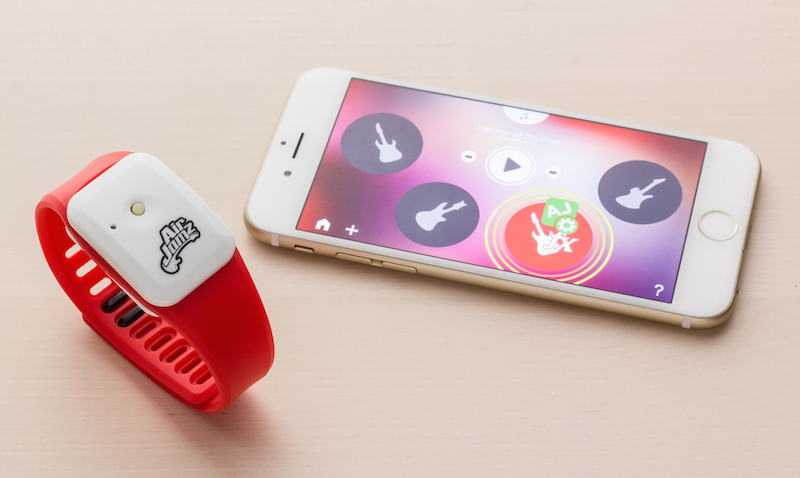 The AirJamz Wearable Wristband Gives Voice to Your Air Guitar