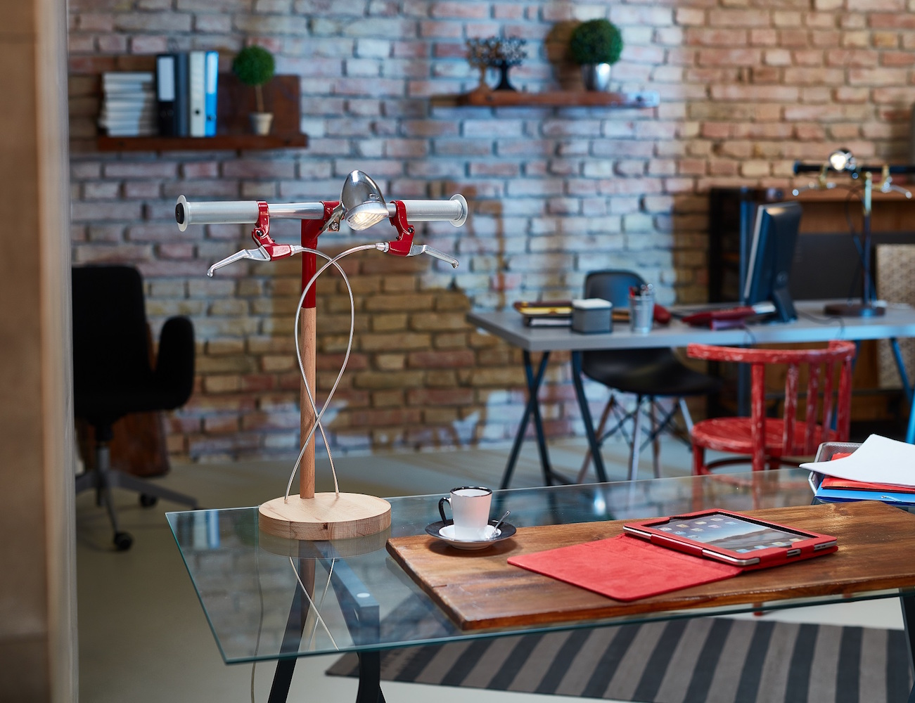 Bike Desk Lamp by Industrial Kid Review The Gad Flow