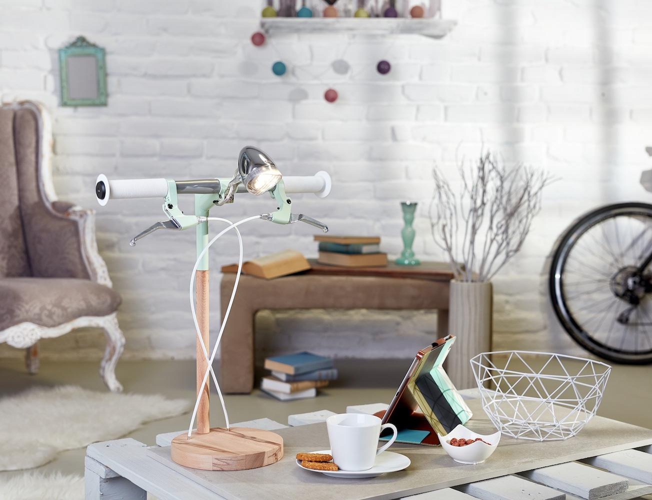 Bike Desk Lamp by Industrial Kid