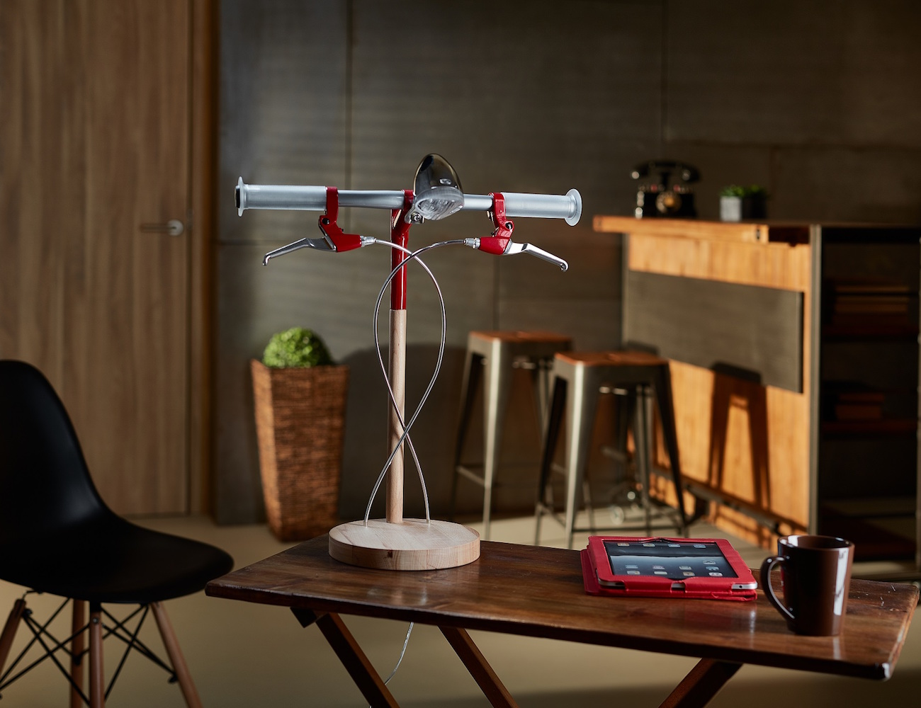 Bike Desk Lamp by Industrial Kid