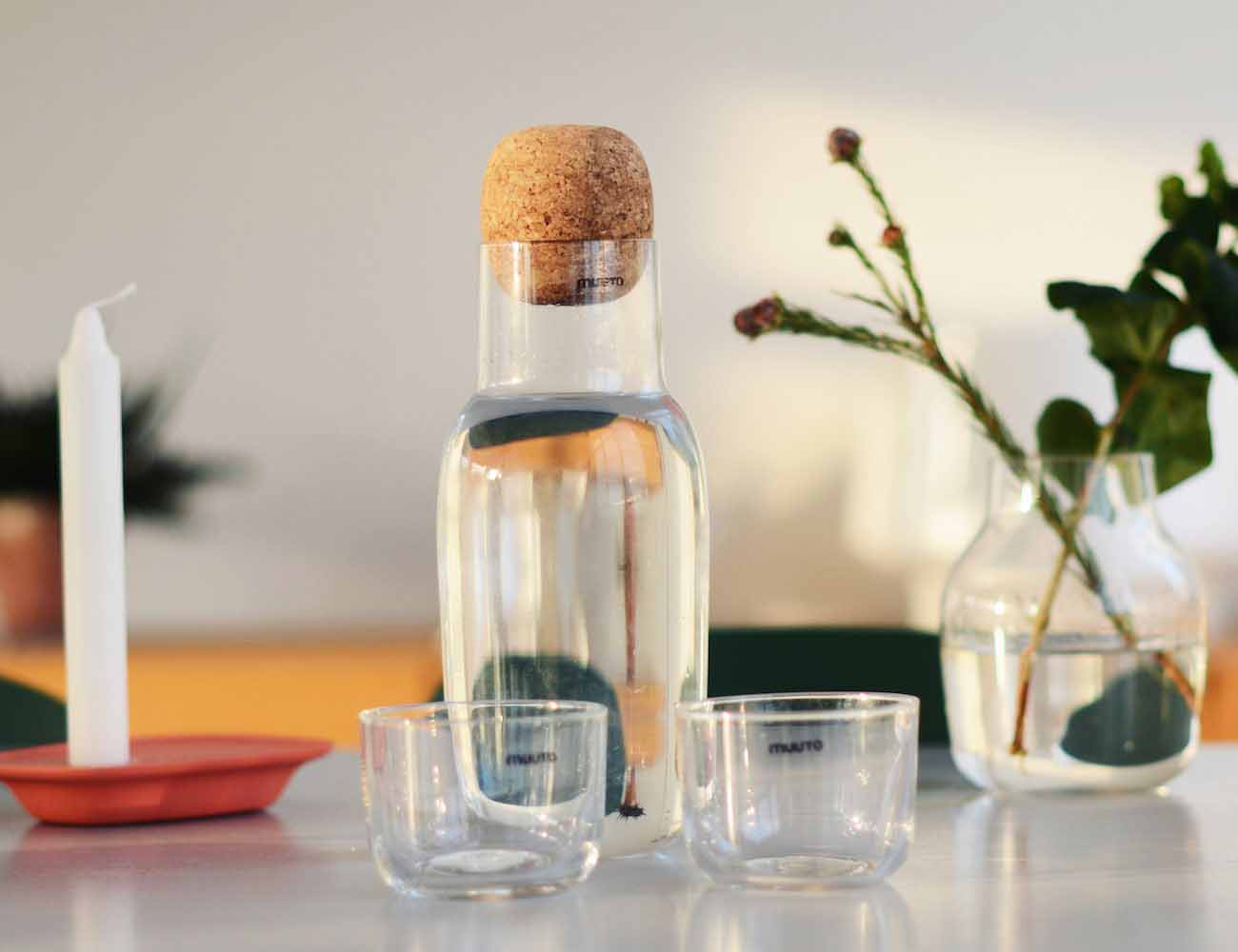 Corky Carafe & Glasses by Muuto