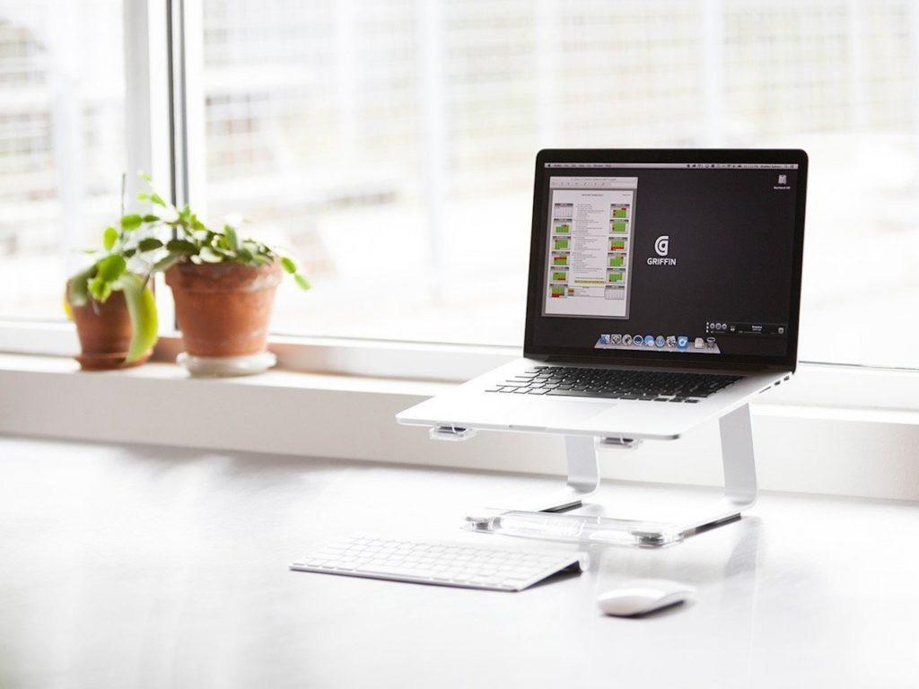 Elevator+Laptop+Stand+by+Griffin+Technology
