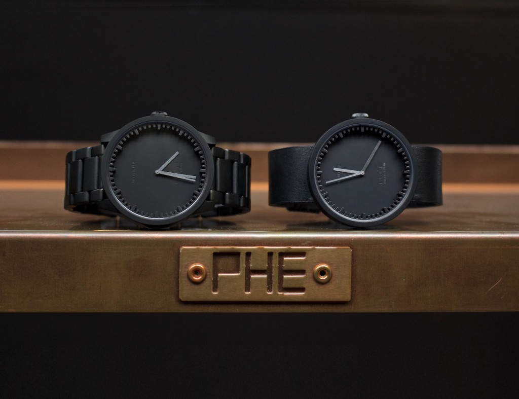 LEFF Amsterdam Matte Black S42 Tube Watch 01