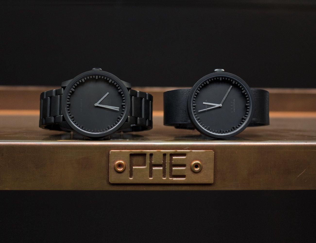 LEFF+Amsterdam+Matte+Black+S42+Tube+Watch