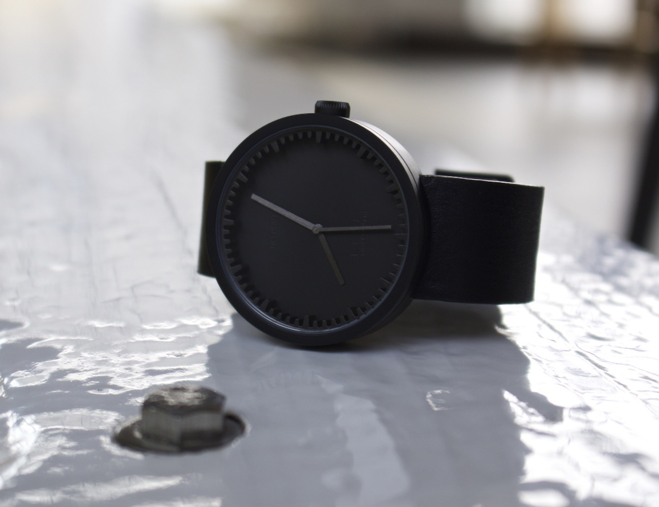 LEFF Amsterdam Matte Black S42 Tube Watch