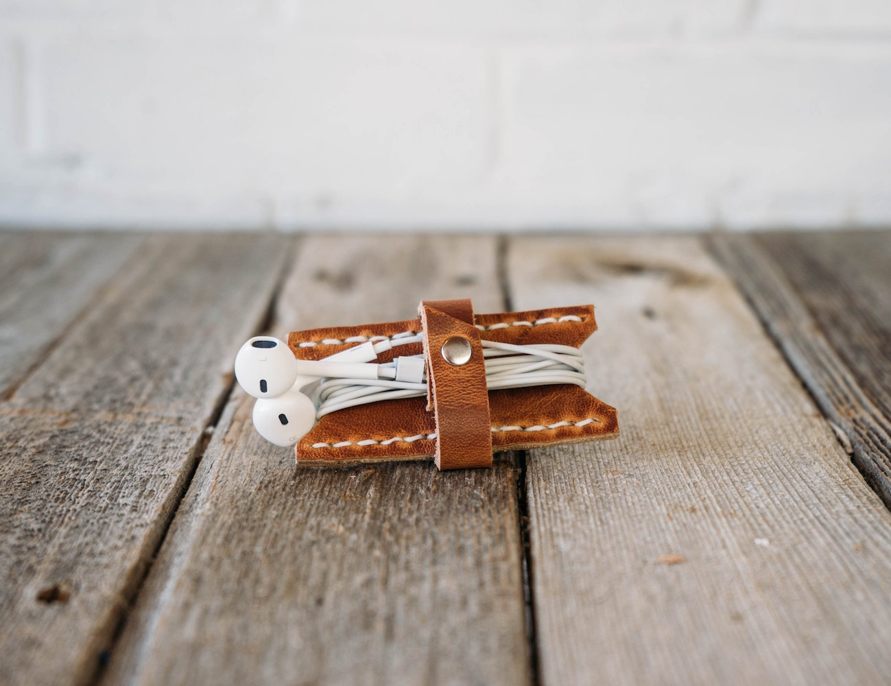 Leather Earbud Keeper by Stock & Barrel Co