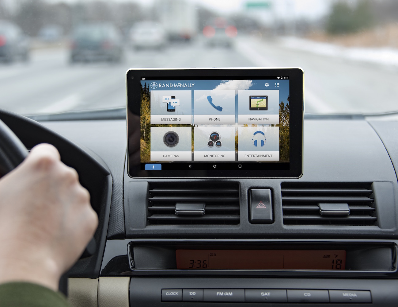 OverDryve Dashboard Tablet by Rand McNally