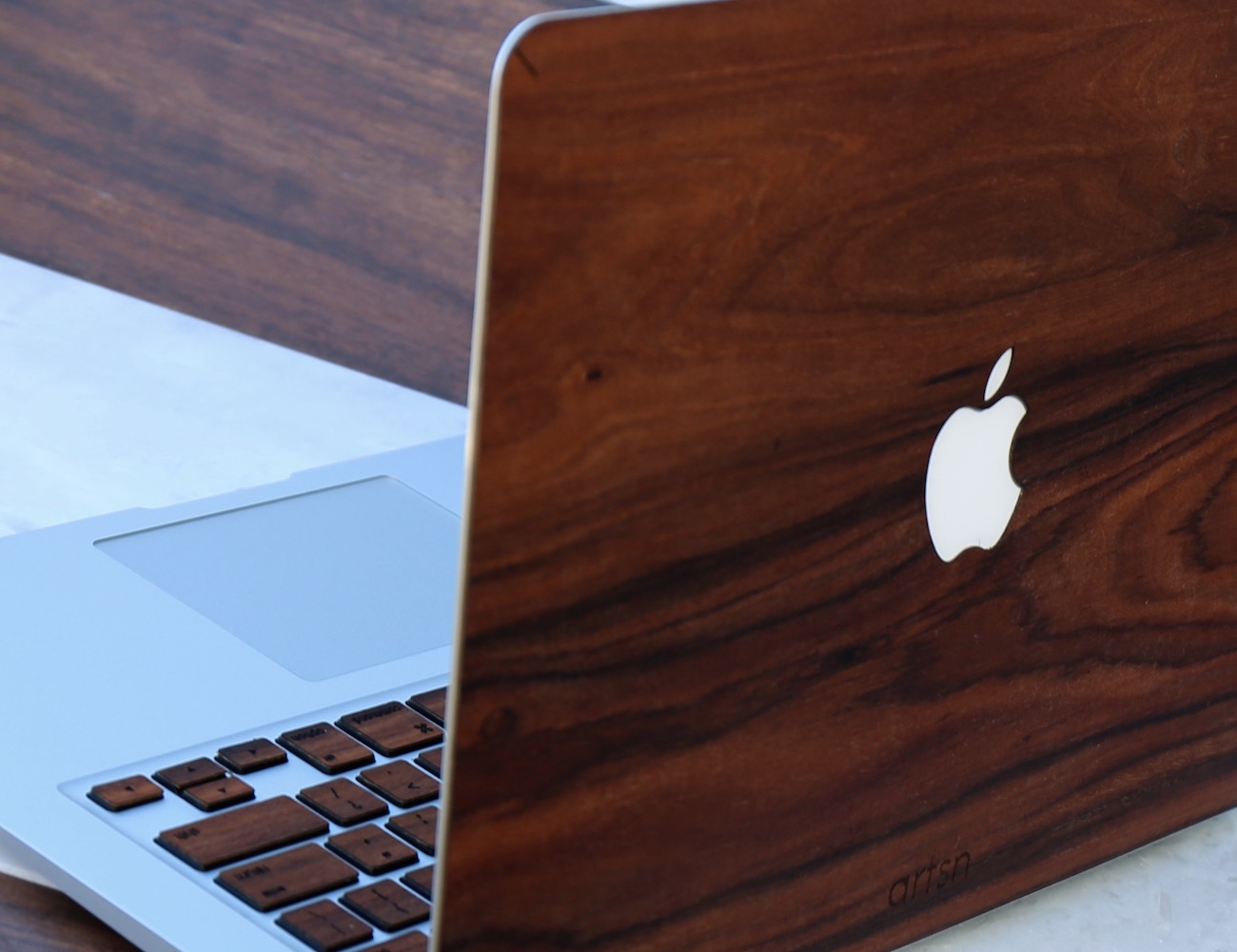 Real Rosewood Macbook Case