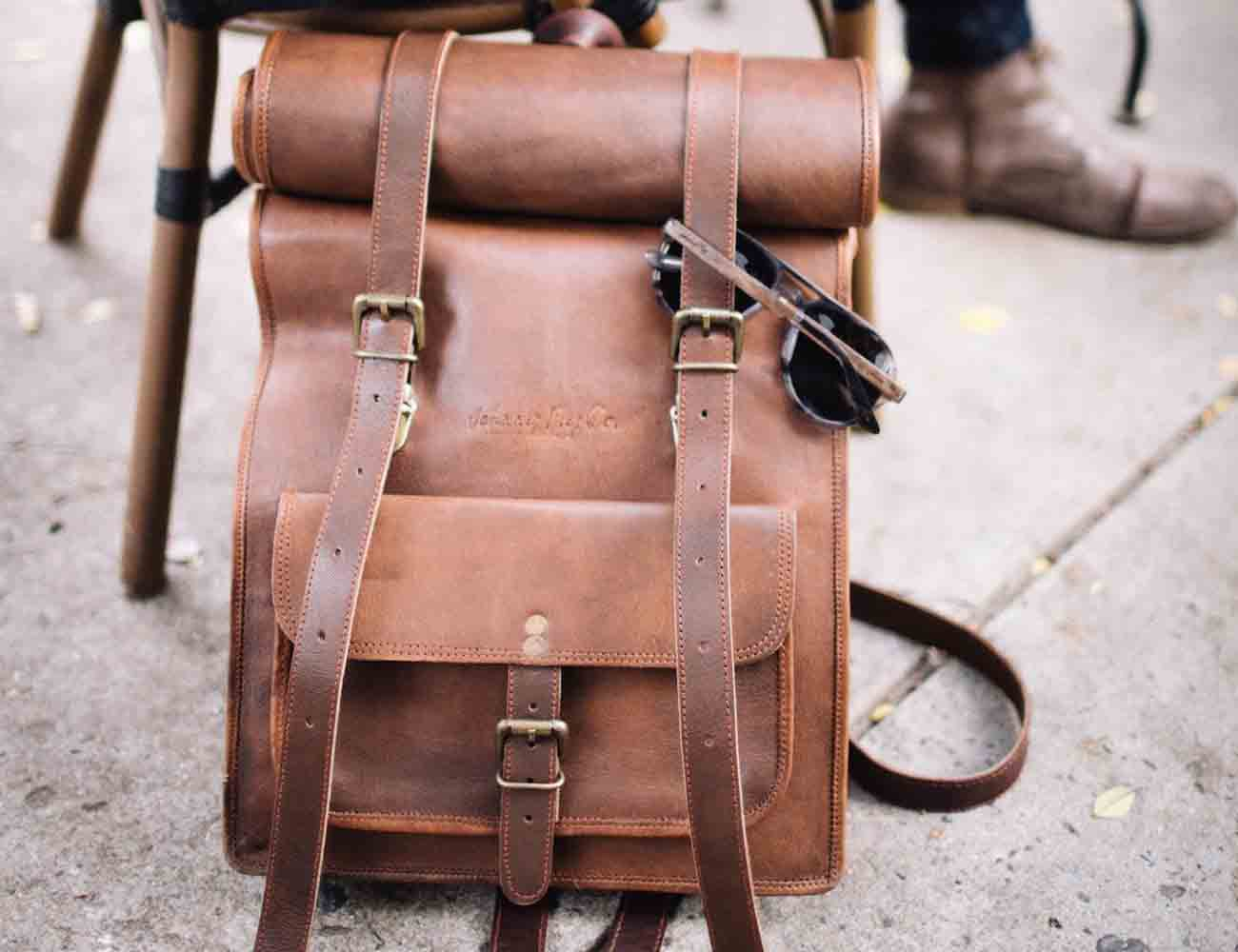 Roll Top Leather Backpack by Pad & Quill » Gadget Flow