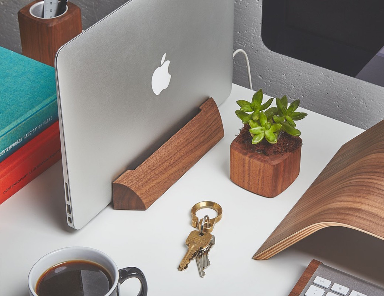 Walnut MacBook Dock by Grovemade