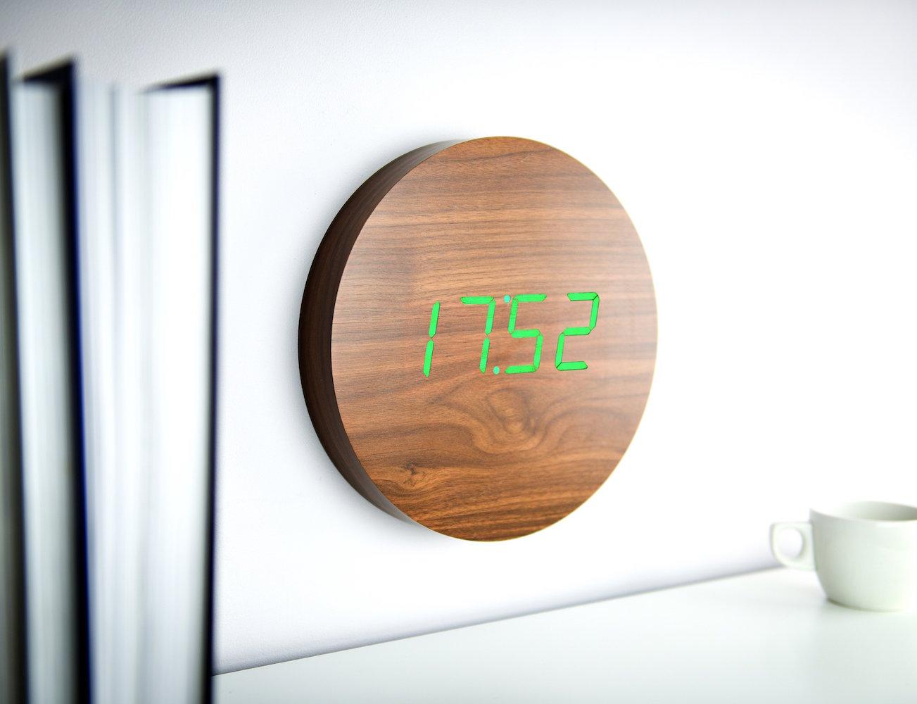 Walnut Wall Click Clock