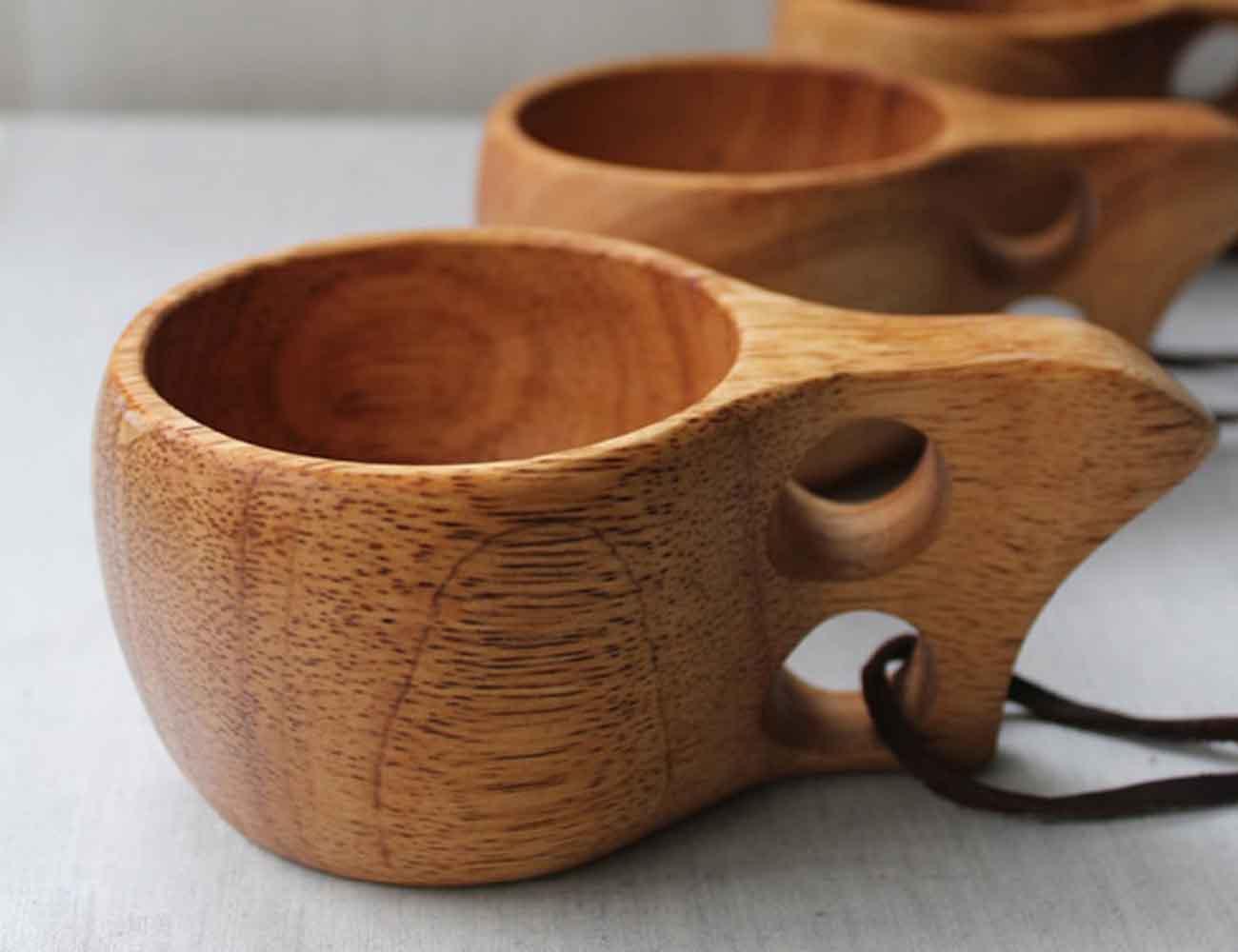 Wooden Kuksa Camping Mug