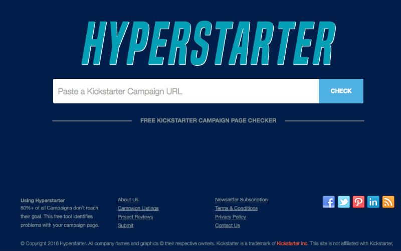 Hyperstarter is a Free Tool That Identifies Problems With Your Kickstarter