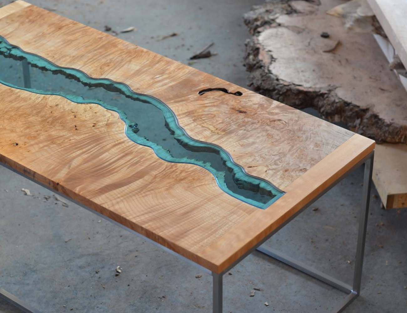 Burled River Coffee Table by Greg Klassen