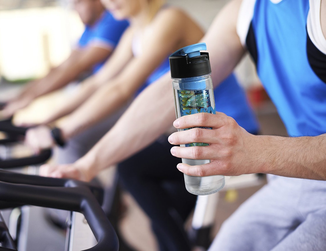 Flip Top Sport Infuser Water Bottle by Savvy Infusion