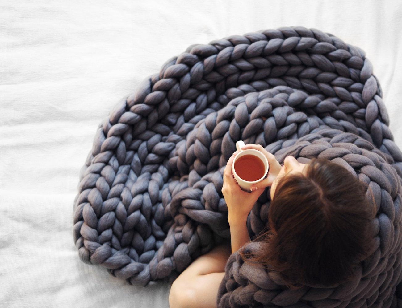 Grande Punto Merino Blanket by Ohhio