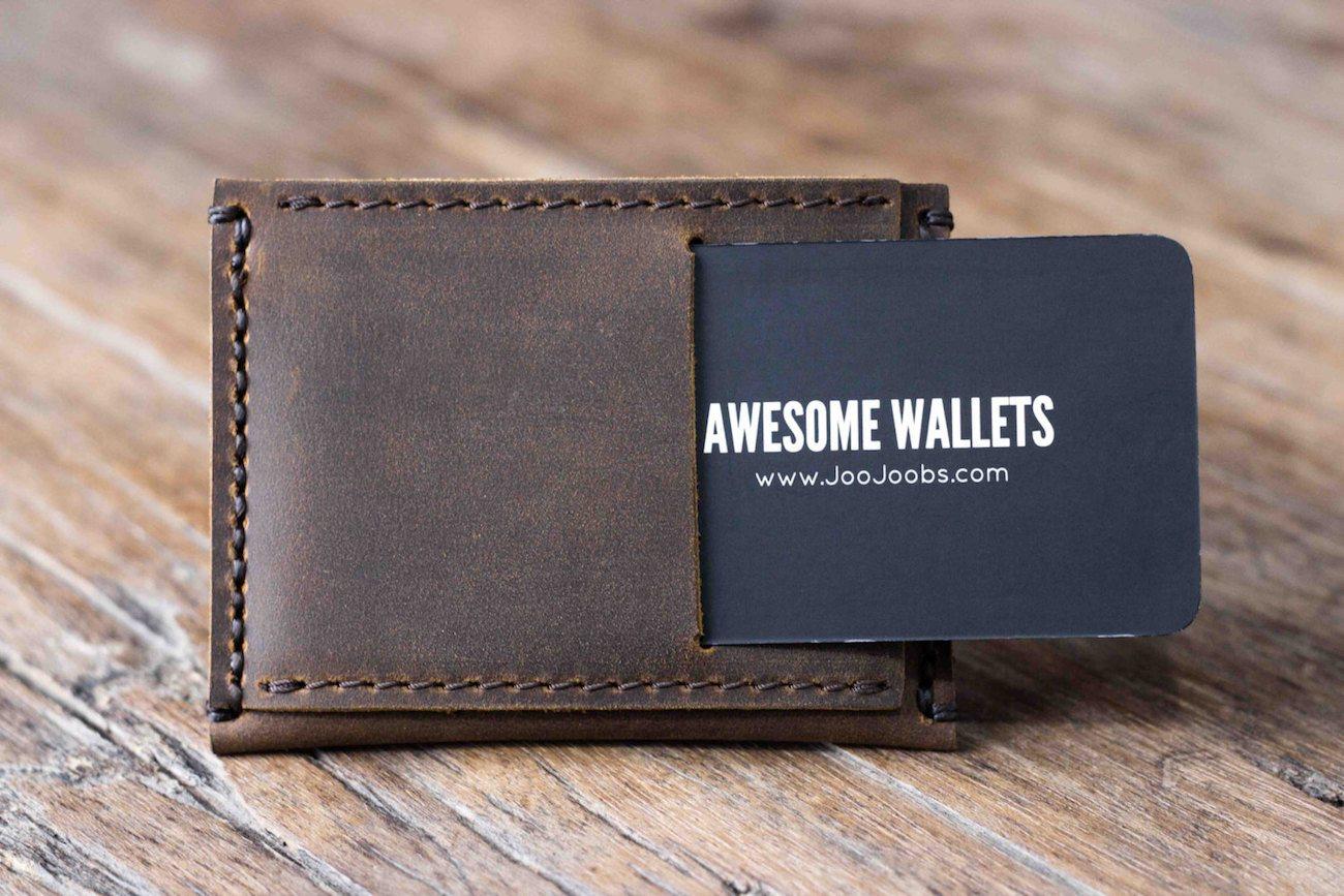 Minimalist Leather Wallet by JooJoobs
