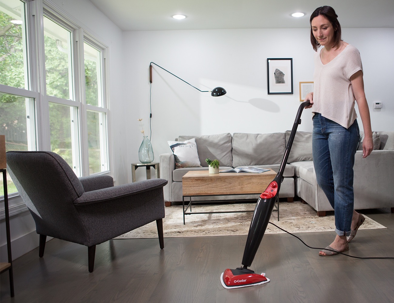 O-Cedar+Microfiber+Steam+Mop