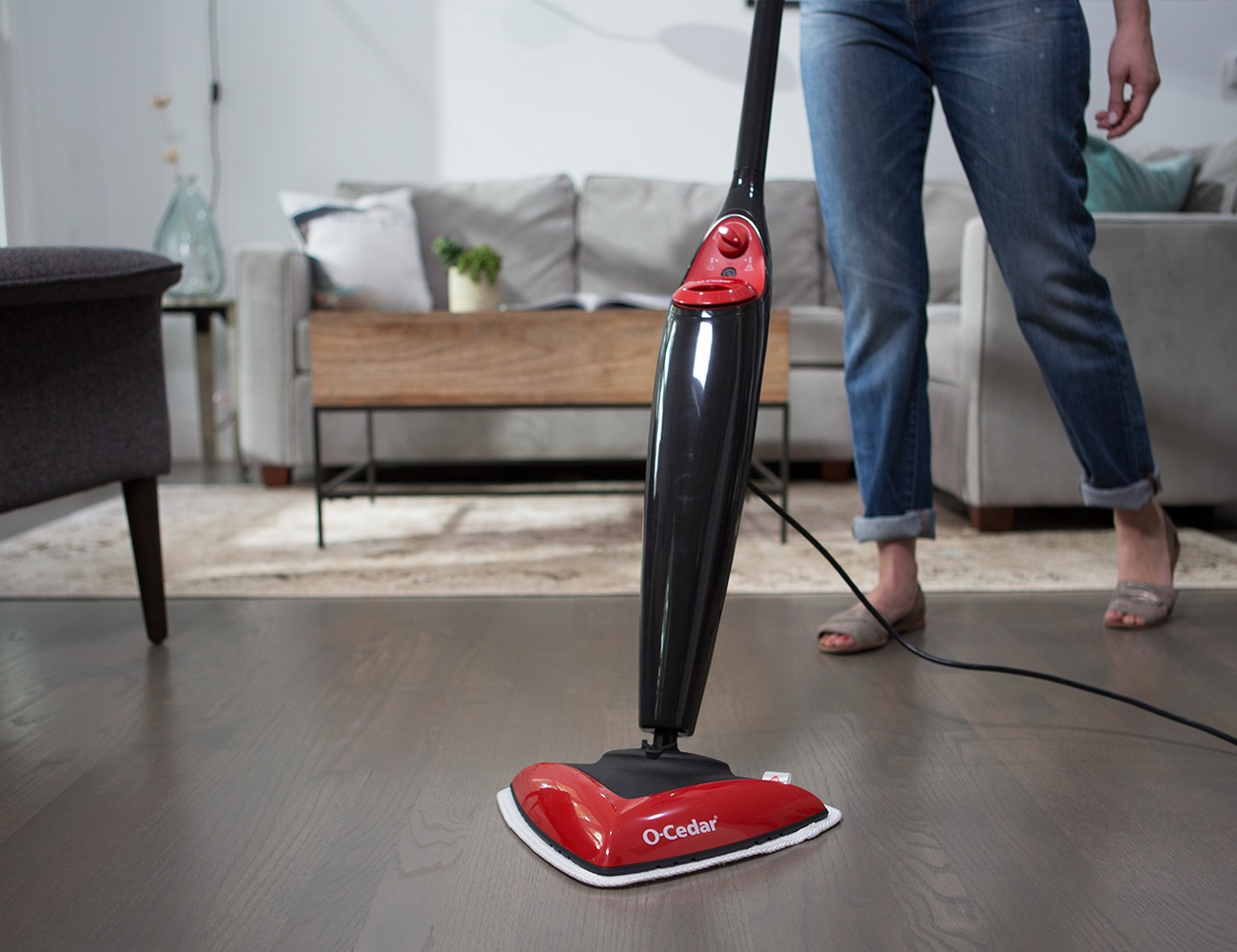 The O-Cedar Steam Mop Tackles Grime on Hard Floors and Carpet