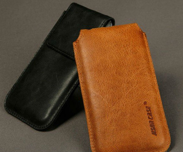 Real Leather iPhone Pocket by Jison Case