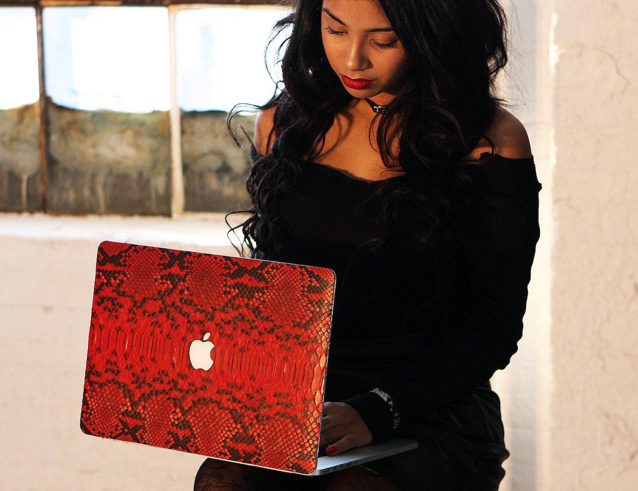Red Python MacBook Case by ELEMNT