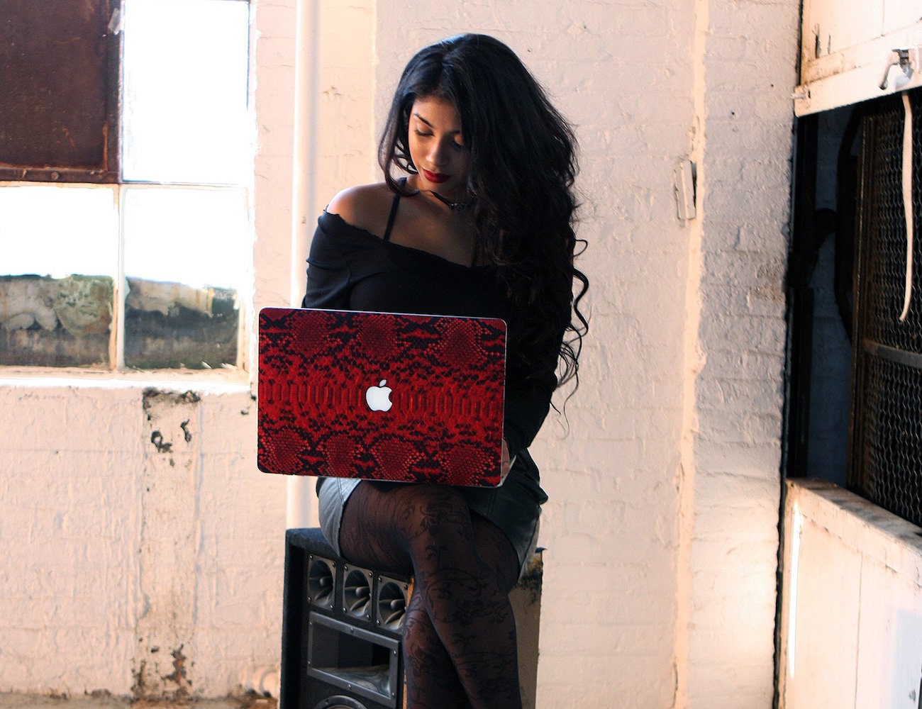 Red Python MacBook Case by ELEMNT