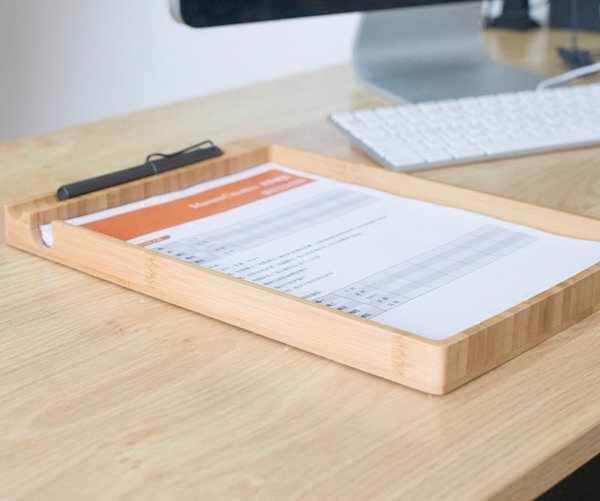 Wooden Pen and Paper Holder