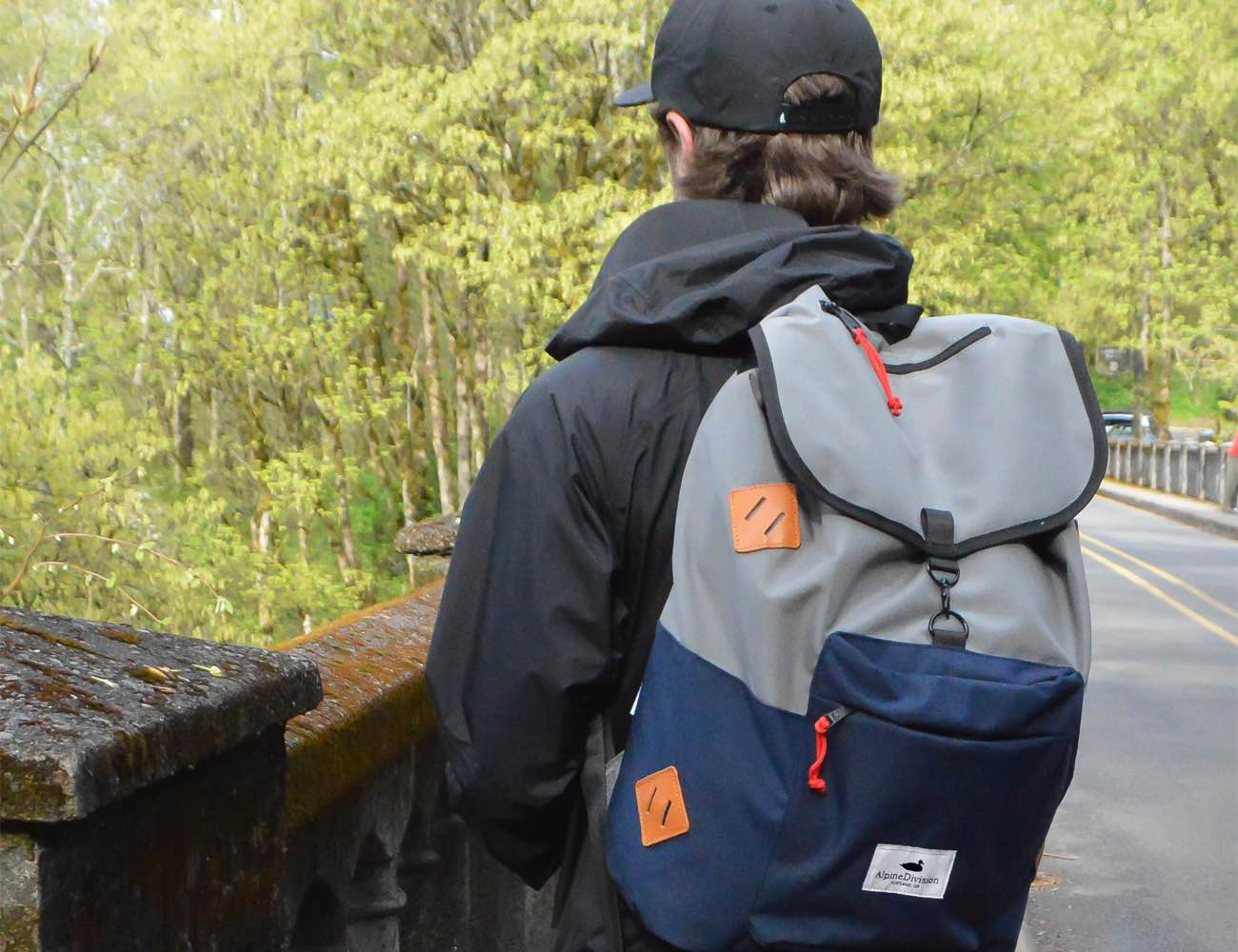 Alpine Division Rockaway Classic Pull String Backpack