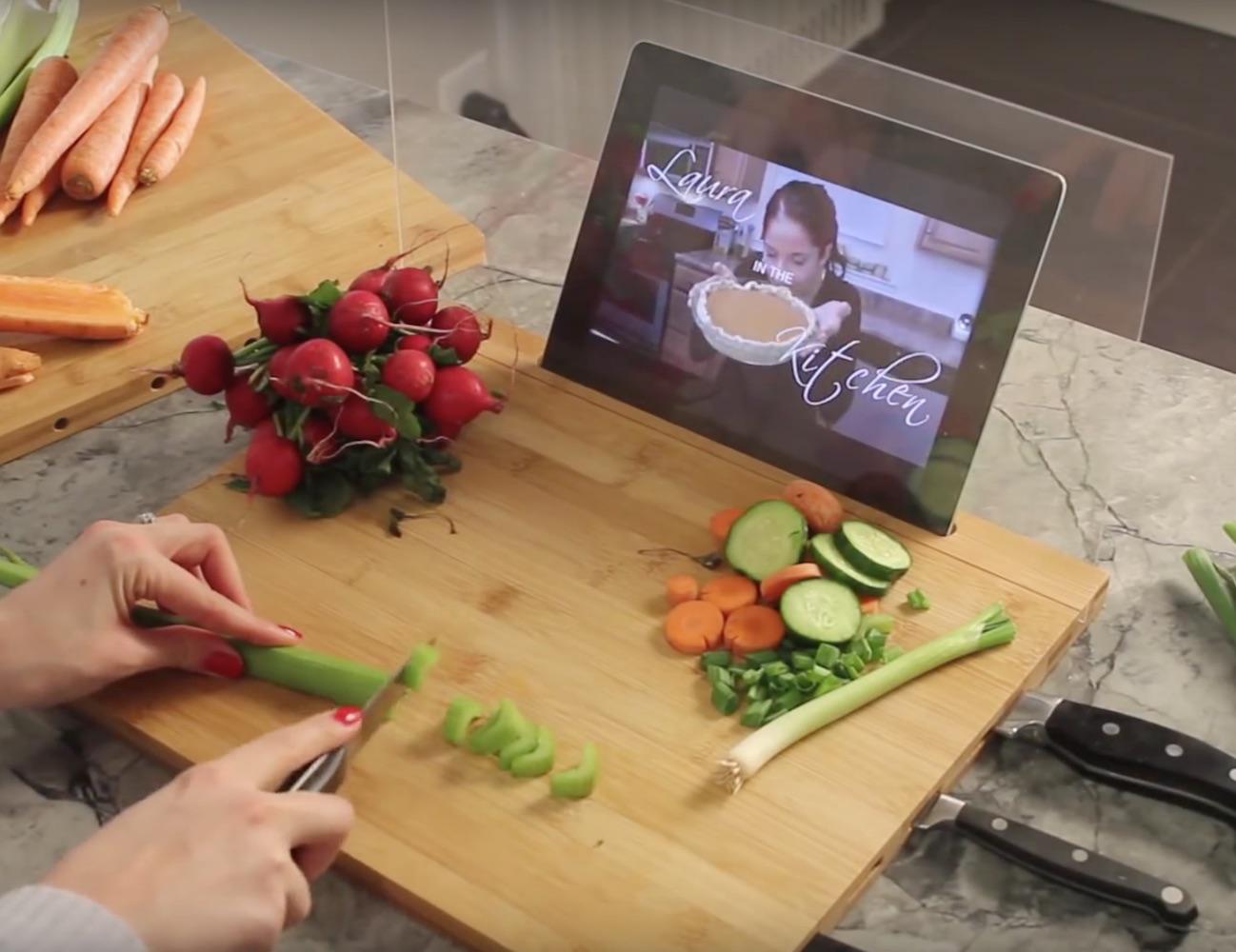 Bamboo iPad Cutting Board