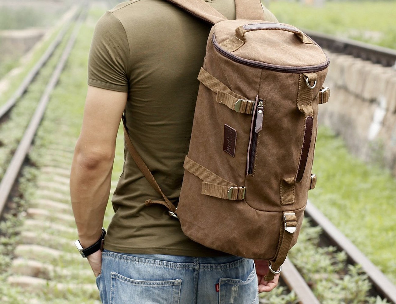 Eshow Canvas Travel Duffle and Backpack