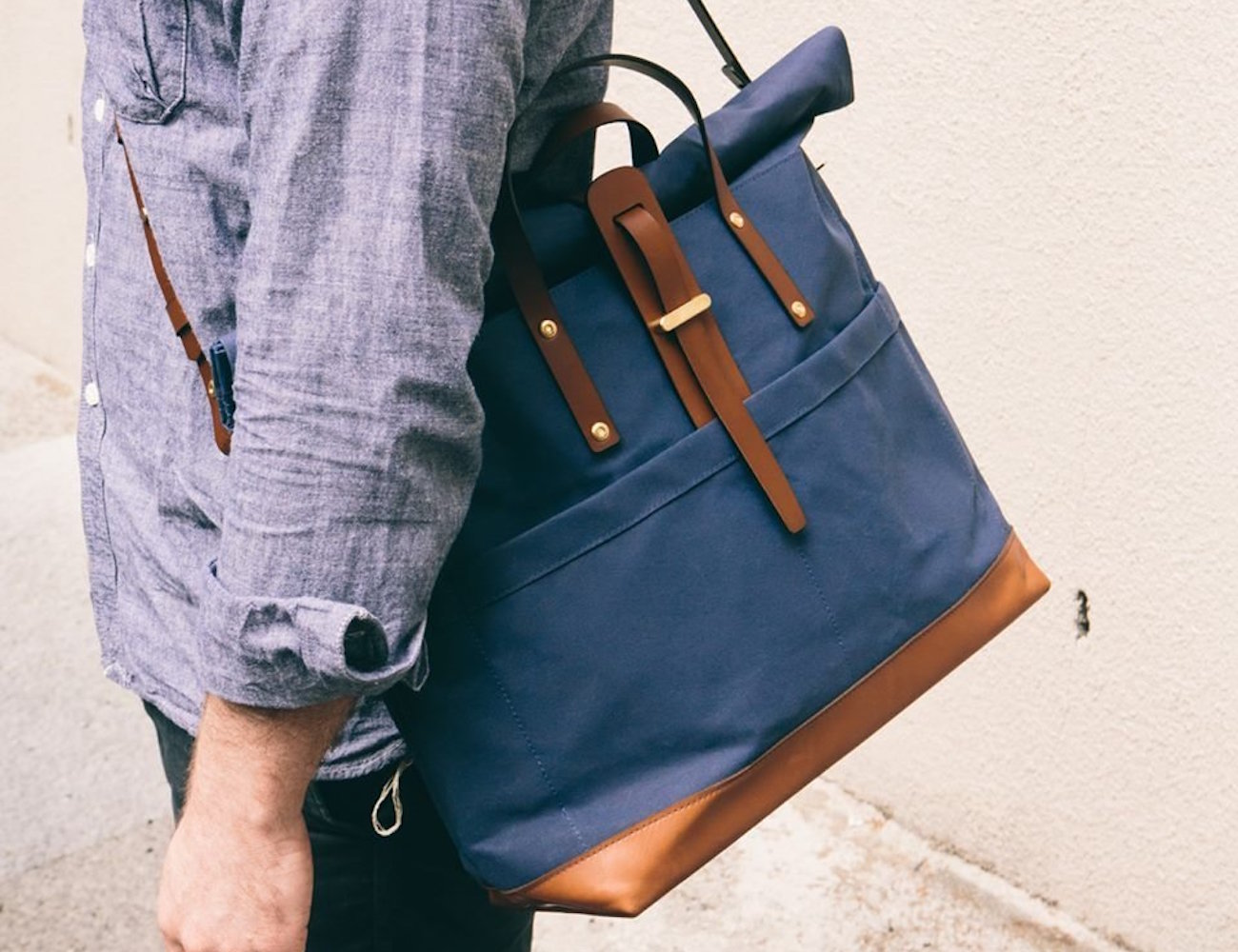Hawk Owl Roll Top Weekender by Tailfeather