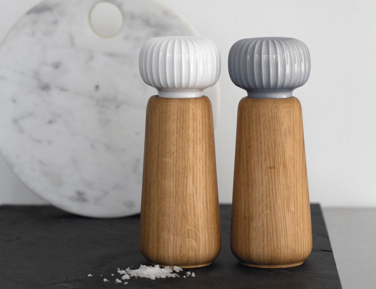 Kahler Hammershoi Porcelain Salt Grinder