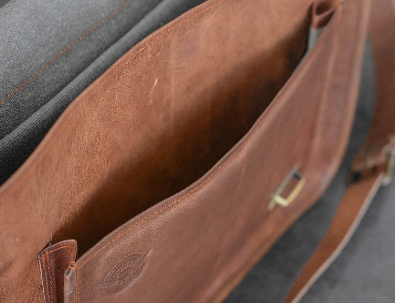 Leather Business Laptop Messenger by Johnny Fly Co