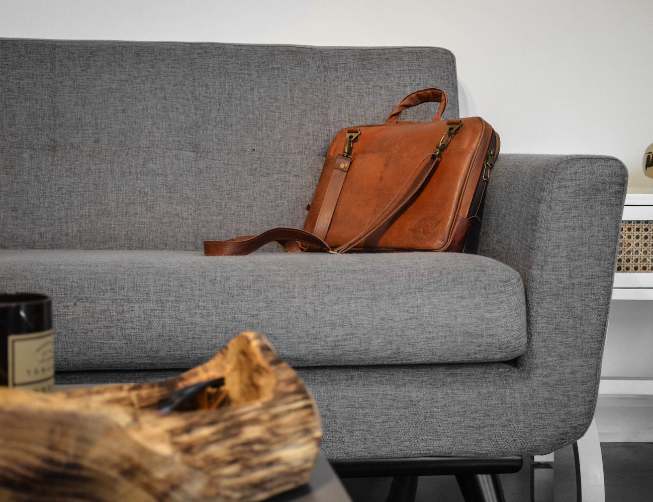 Leather Laptop Sling Bag by Johnny Fly Co
