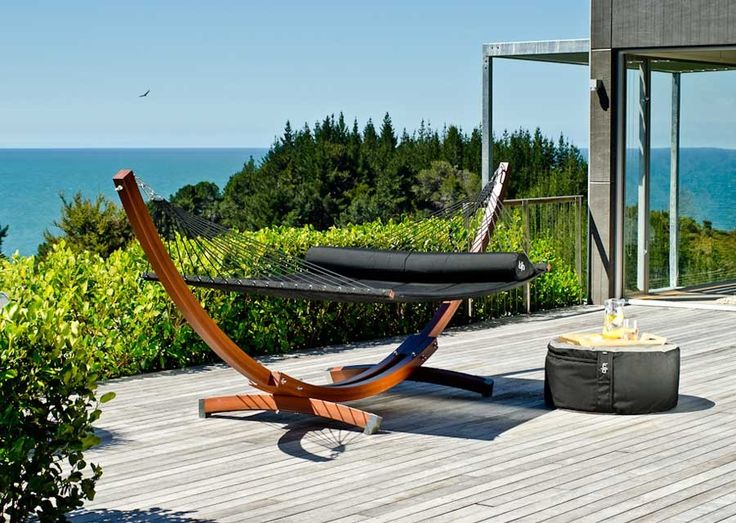 Lujo+Living+Free-Standing+Double+Hammock+With+Stand