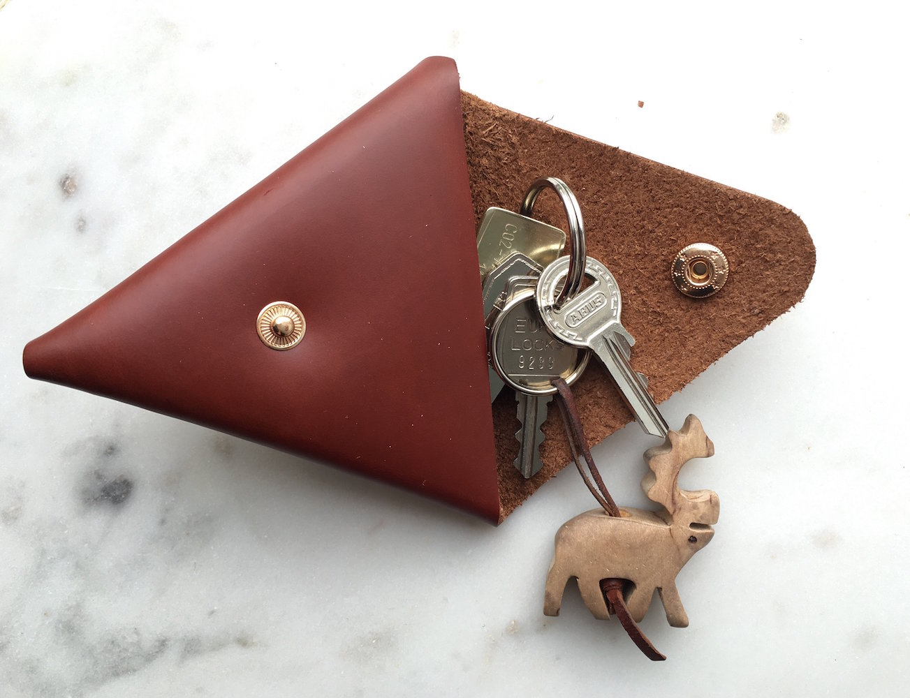 Origami Style Leather Purse by Peiliee Workshop