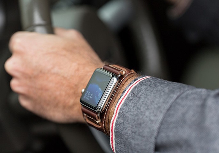 Lowry Leather Cuff For Apple Watch By Pad Amp Quill 187 Gadget