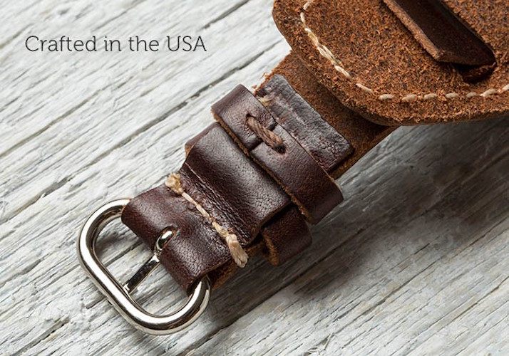 Lowry Leather Cuff for Apple Watch by Pad & Quill