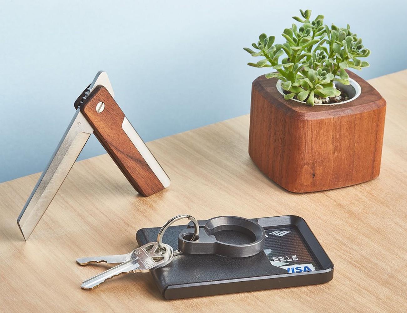 Real Wood Pocket Knife by Grovemade