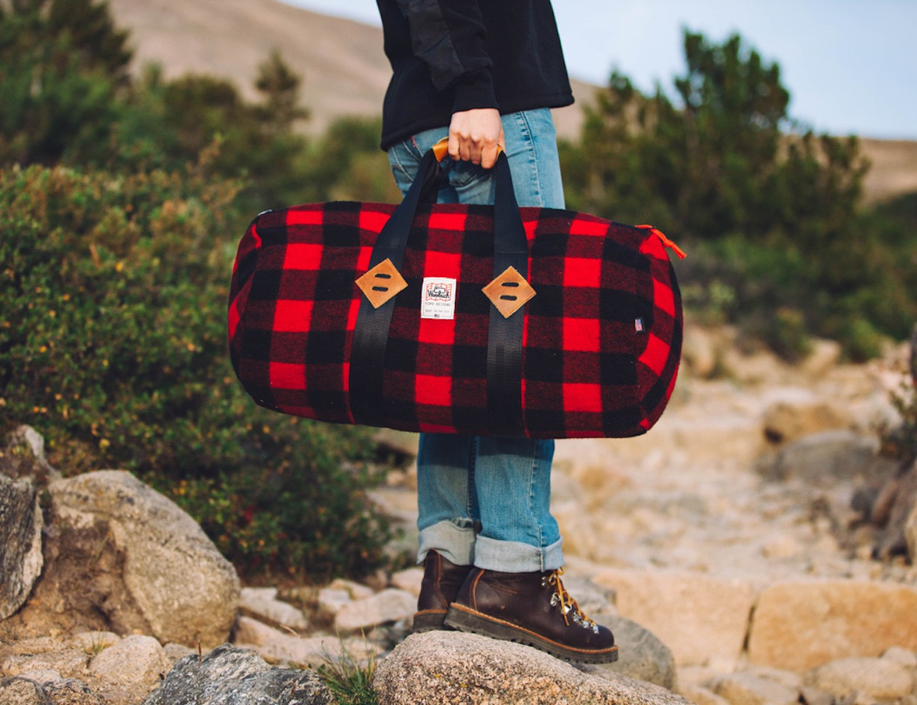 TOPO+Designs+X+Woolrich+Duffle+Bag