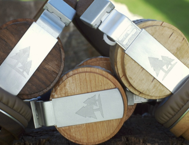 The Prelude Premium Wireless Wooden Headphones by TIMBER Audio