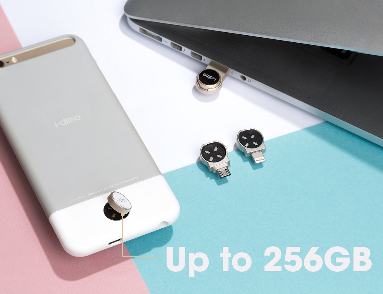 idime – First Magnetic, Dime-Sized iPhone Storage Expansion