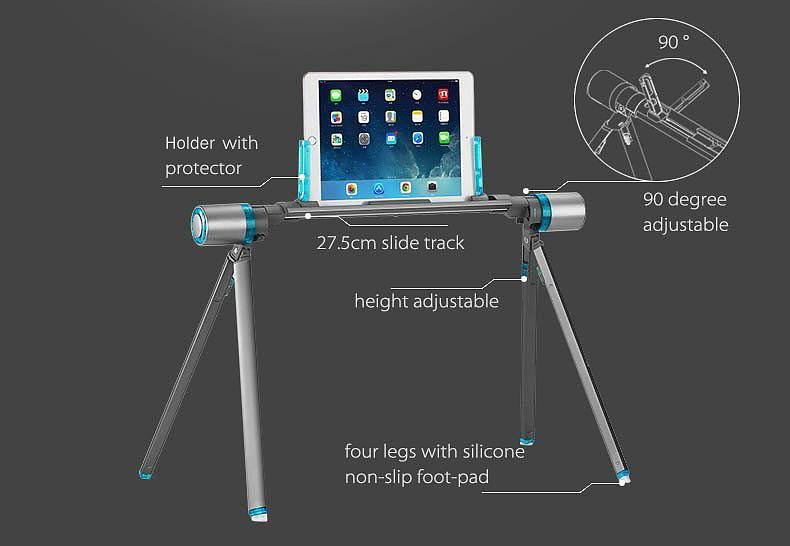 Aluminum Portable Tablet Stand by Rapahan