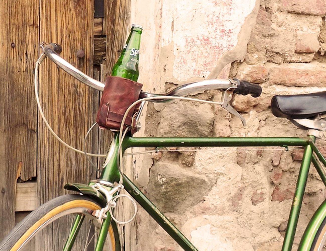 Cruzy Kozy Leather Bike Cup Holder by Hide & Drink