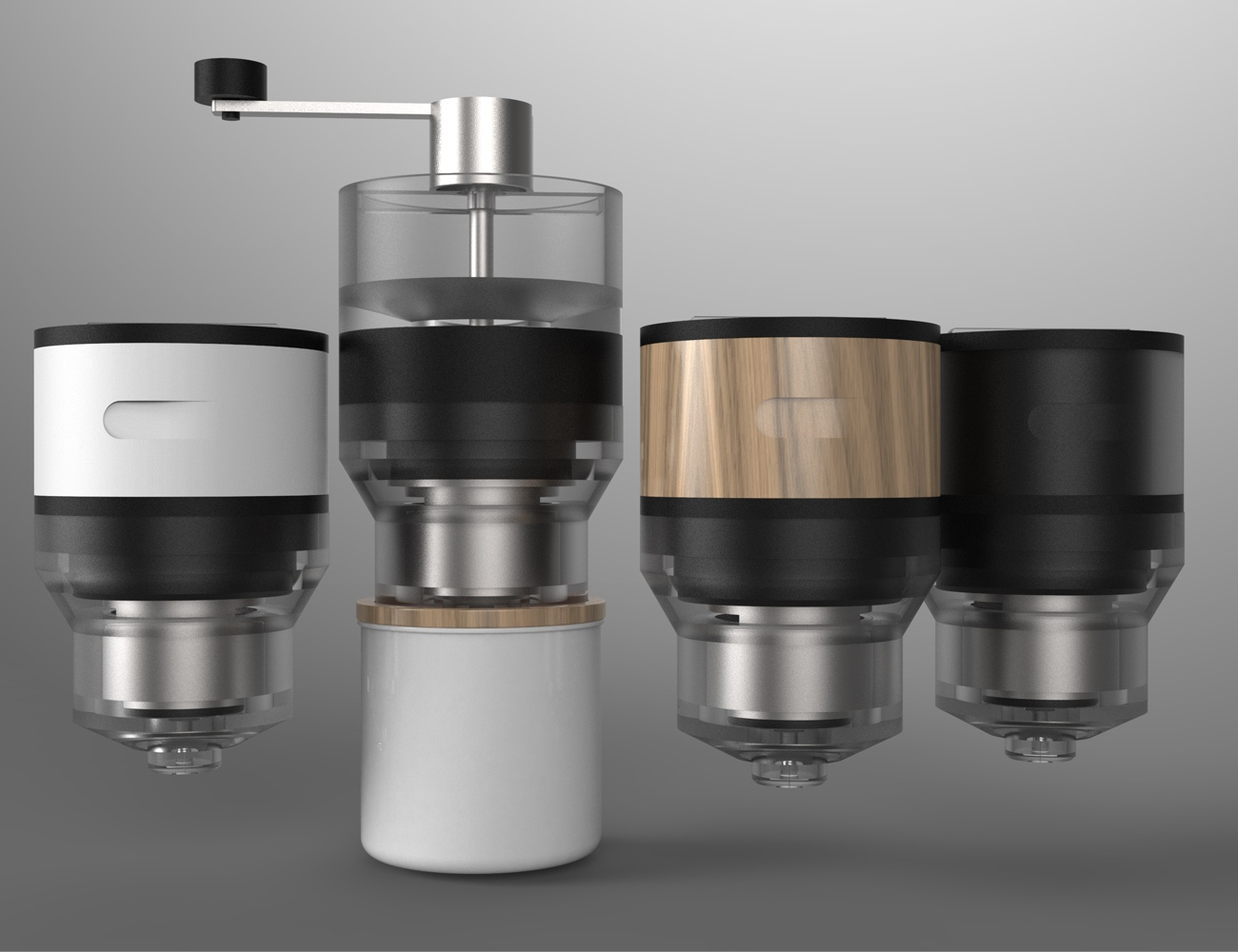 FUSE Modular Coffee Press 05 Coffee Maker With Grinder And Frother