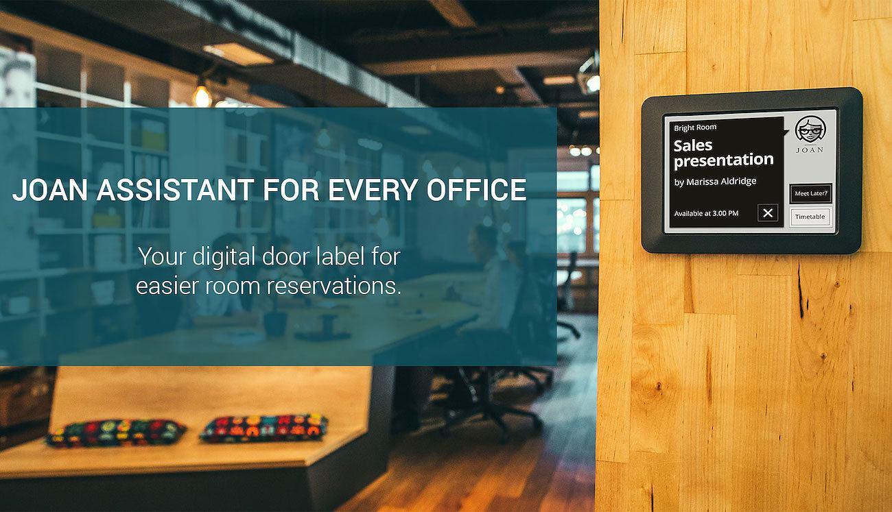 Joan Digital Door Label for Meeting Rooms