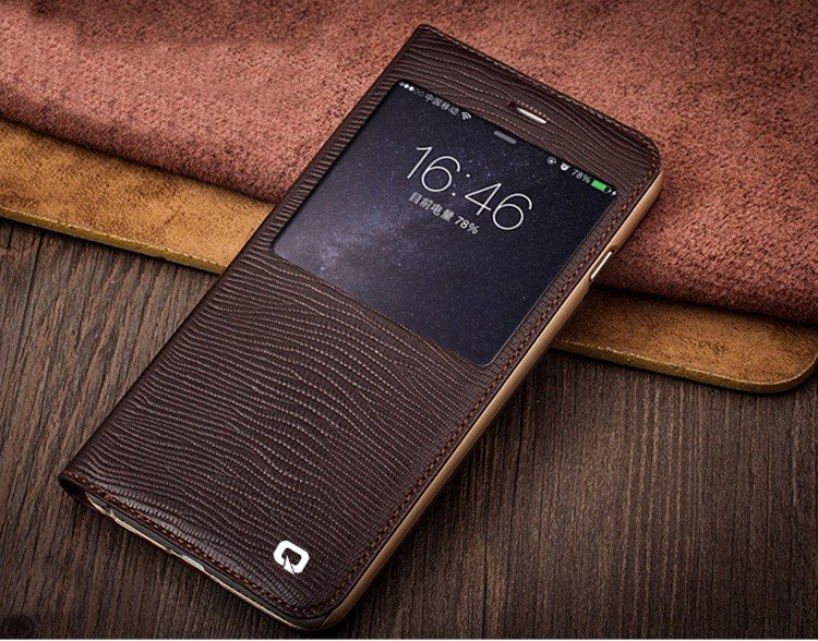 Lizard Grain Leather iPhone Case